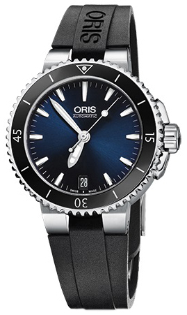Oris Diving Herrklocka 01 733 7652 4135-07 4 18 34 Blå/Gummi Ø36 mm - Oris