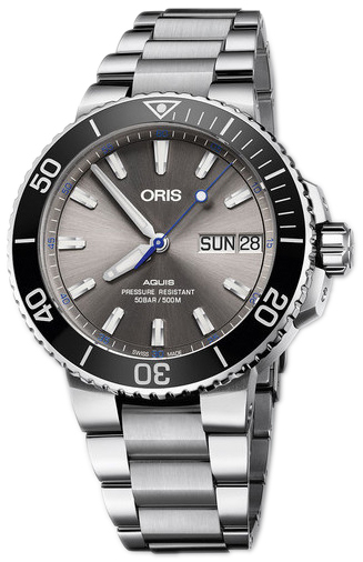 Oris Diving Herrklocka 01 752 7733 4183-Set MB Grå/Stål Ø45.5 mm - Oris