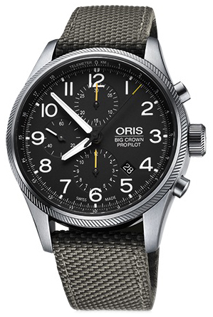 Oris Aviation Herrklocka 01 774 7699 4134-07 5 22 17FC Svart/Textil Ø44 mm - Oris
