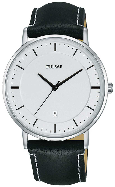 Pulsar Dress Herrklocka PG8255X1 Vit/Läder Ø38 mm - Pulsar