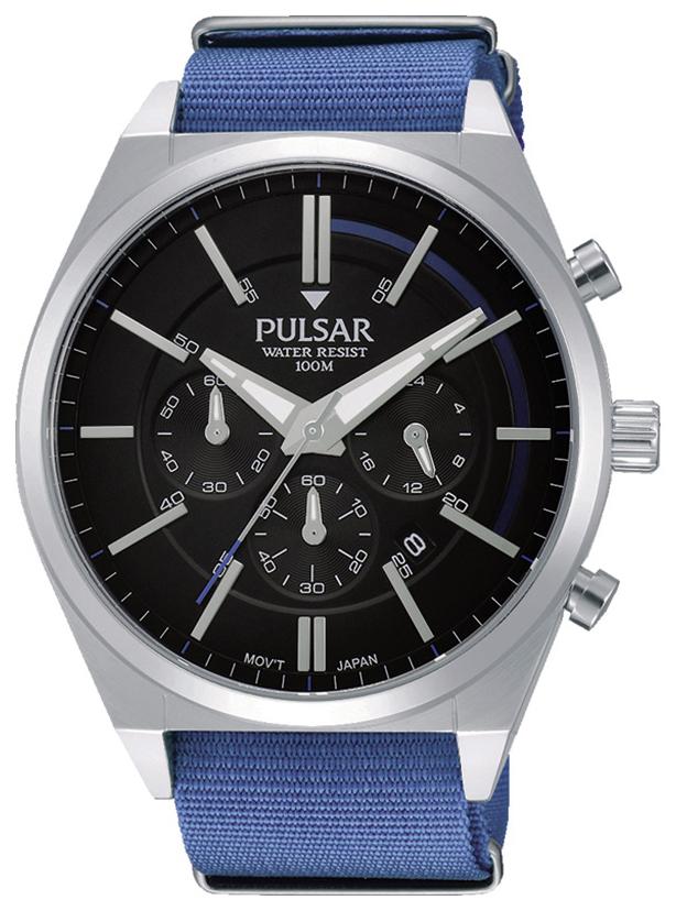 Pulsar Pulsar X Herrklocka PT3703X1 Svart/Stål Ø45 mm - Pulsar