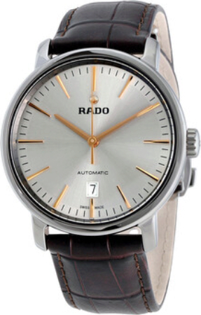 Rado Diamaster Herrklocka R14074106 Silverfärgad/Läder Ø41 mm - Rado