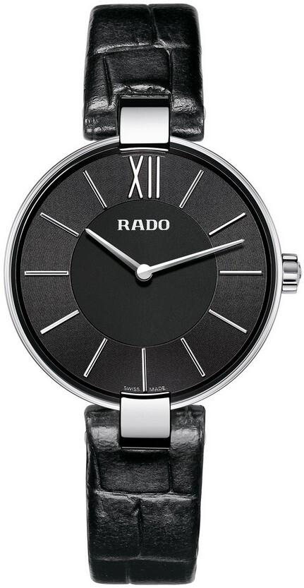 Rado Coupole Damklocka R22850155 Svart/Läder Ø32.5 mm - Rado