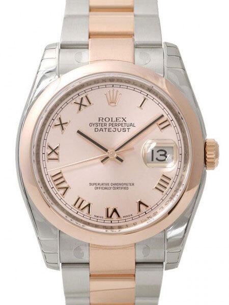 Rolex Datejust Two Tone Herrklocka 116201-0088 Roséguldstonad/18 karat - Rolex