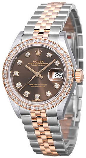 Rolex Lady-Datejust 28 Damklocka 279381RBR-0011 Brun/18 karat roséguld - Rolex