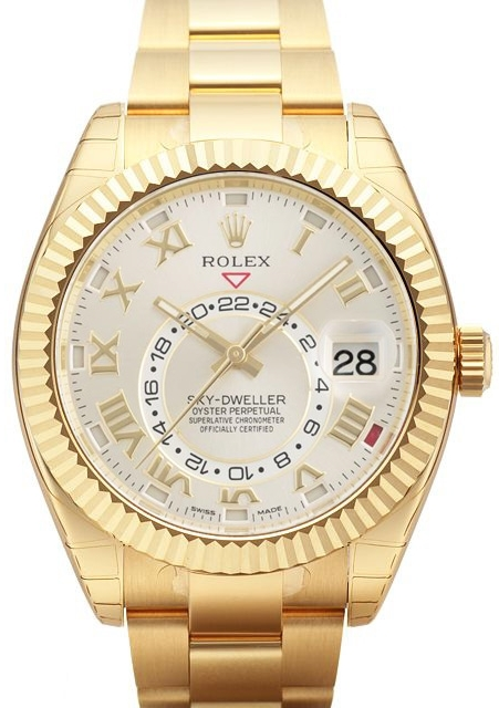 Rolex Sky-Dweller Herrklocka 326938-0001 Silverfärgad/18 karat vitt guld - Rolex
