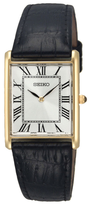Seiko Dress Herrklocka SFP608P1 Silverfärgad/Läder - Seiko