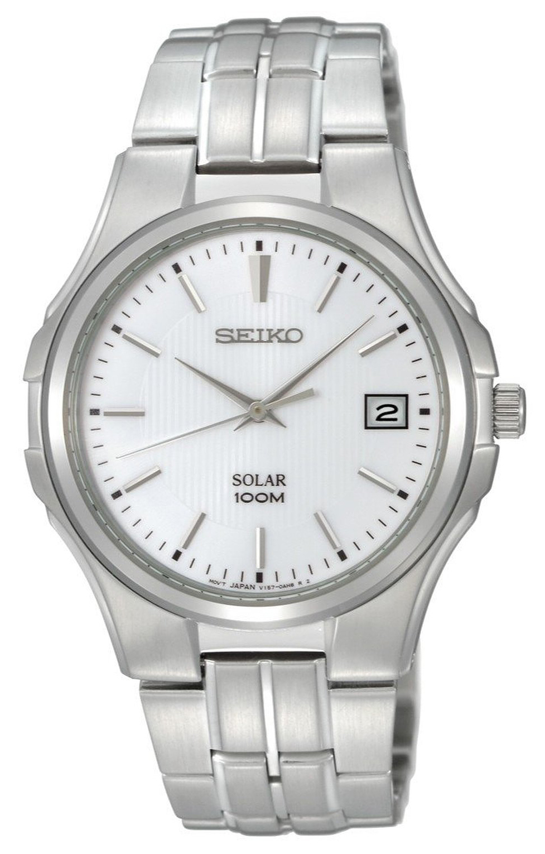 Seiko Herrklocka SNE131P1 Vit/Stål Ø40 mm - Seiko