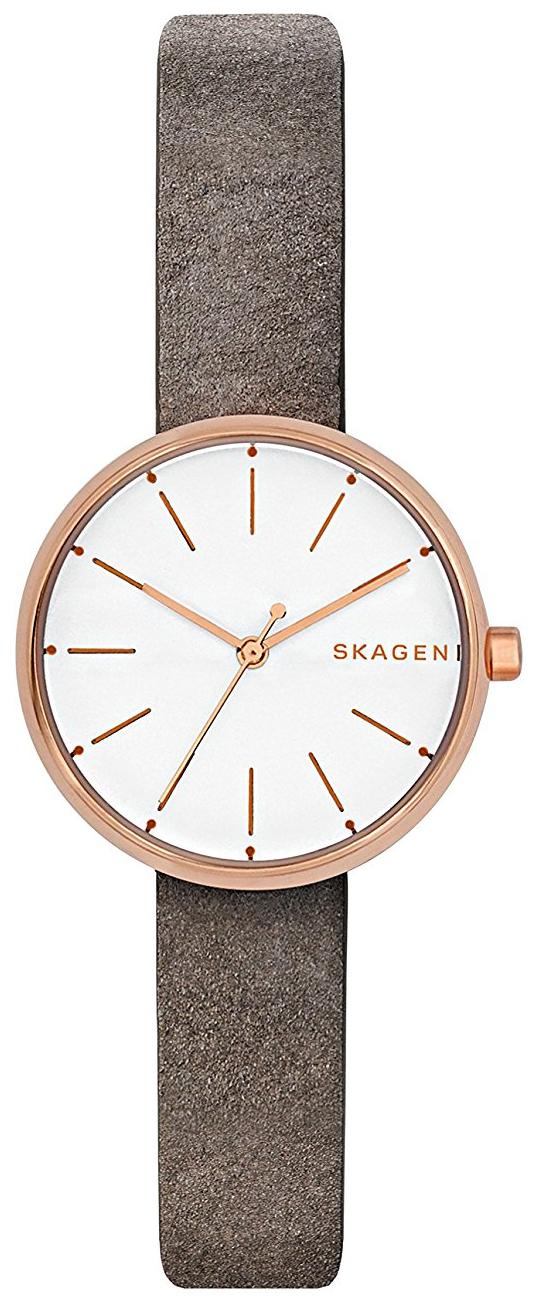 Skagen Signatur Damklocka SKW2644 Vit/Läder Ø30 mm - Skagen