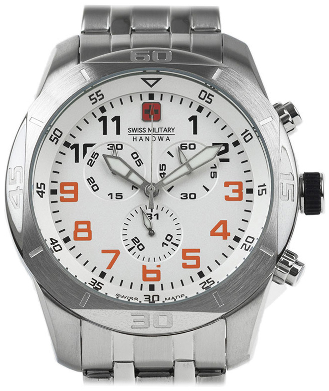 Swiss Military Sport Herrklocka 06-5265.04.001.79 Vit/Stål Ø45 mm - Swiss Military