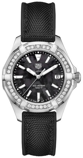 TAG Heuer Aquaracer Lady Damklocka WAY131P.FT6092 Svart/Gummi Ø35 mm - TAG Heuer