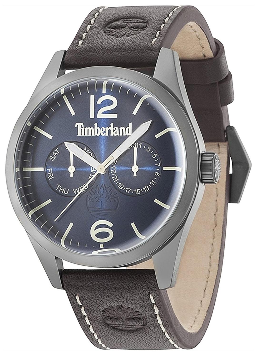 Timberland Middleton Herrklocka 15018JSU/03 Blå/Läder Ø44 mm - Timberland