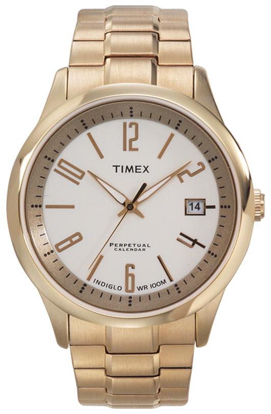 Timex Herrklocka T2G971 Vit/Guldtonat stål Ø39 mm - Timex