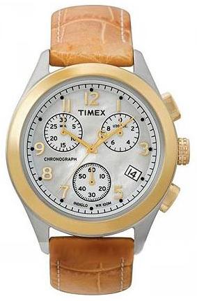 Timex 99999 Damklocka T2M712 Vit/Läder Ø36.8 mm - Timex