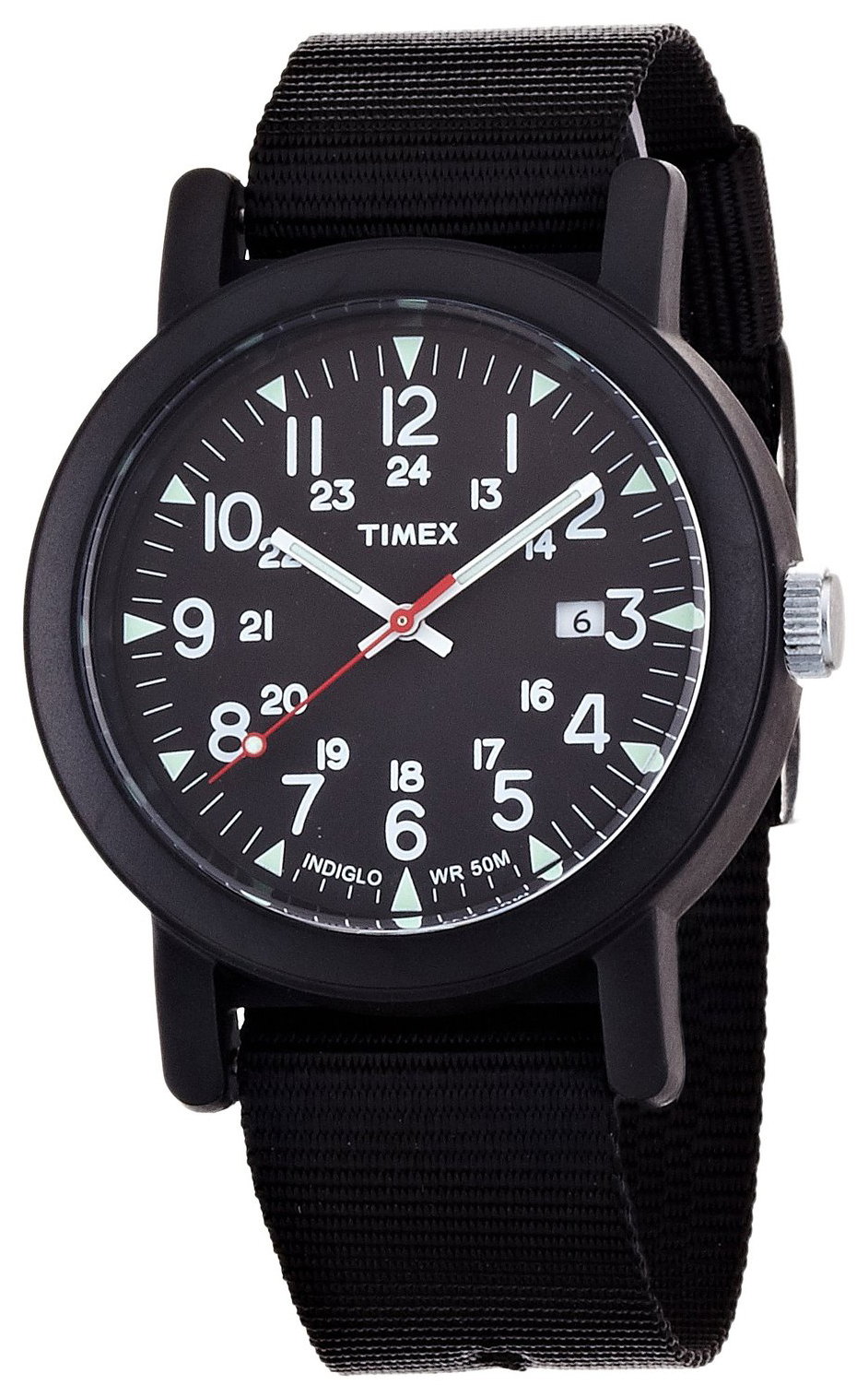 Timex Premium Collection Herrklocka T2N364 Svart/Textil Ø38 mm - Timex