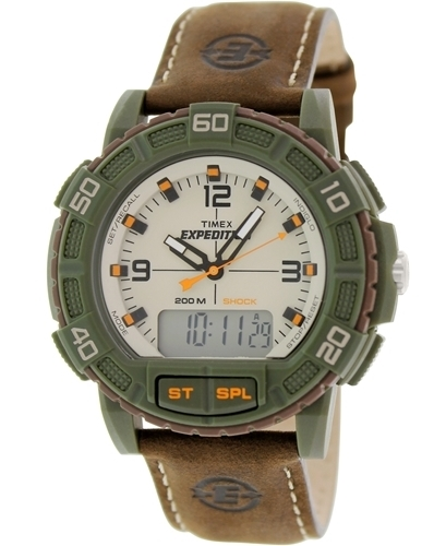 Timex Expedition Herrklocka T49969 Beige/Läder Ø45 mm - Timex