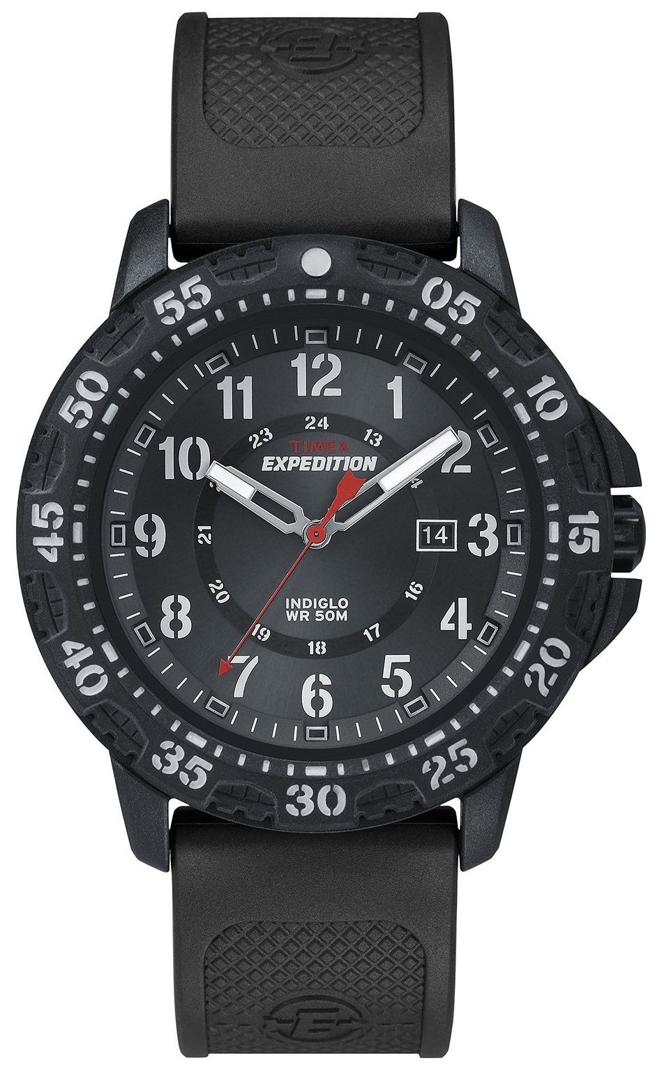 Timex Expedition Herrklocka T49994 Svart/Gummi Ø44 mm - Timex
