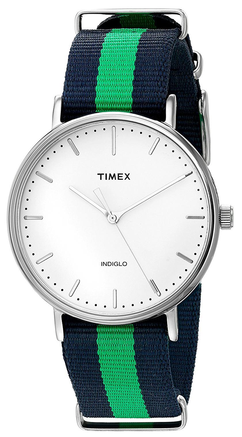 Timex Weekender TW2P90800 Vit/Stål Ø41 mm - Timex