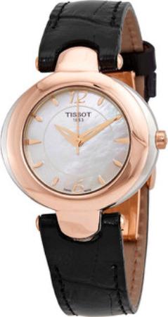 Tissot T-Gold Organdy Damklocka T916.209.46.117.01 Vit/Läder Ø30 mm - Tissot