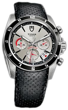 Tudor Grantour Chrono Herrklocka 20530N-SLIDBLS Vit/Läder Ø42 mm - Tudor