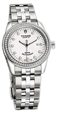 Tudor Glamour Date Damklocka 53020-68030-WDIDSTL Vit/Stål Ø31 mm - Tudor