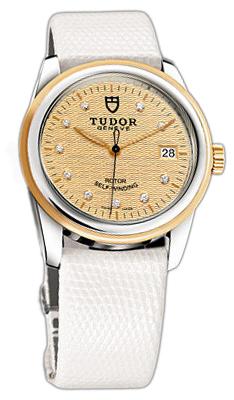 Tudor Glamour Date 55003-CHDIDWLZSP Champagnefärgad/Läder Ø36 mm - Tudor