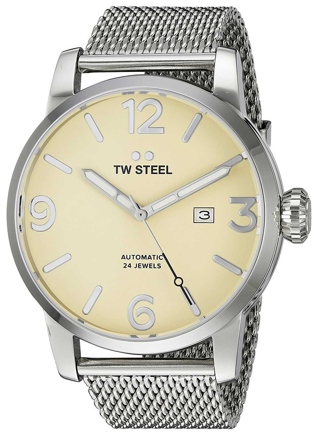 TW Steel Maverick MB6 Beige/Stål Ø48 mm - TW Steel