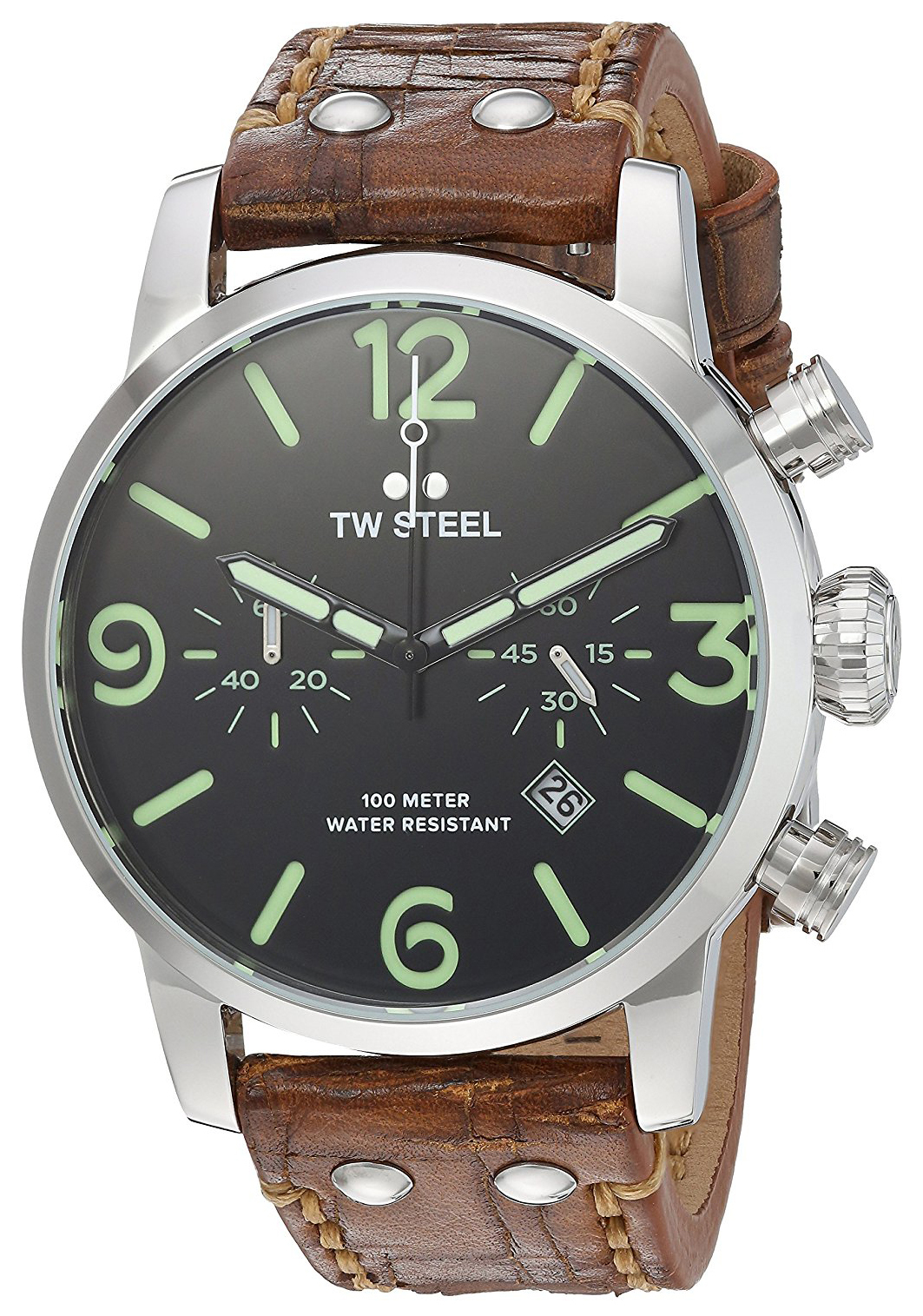 TW Steel Maverick Herrklocka MS14 Svart/Läder Ø48 mm - TW Steel