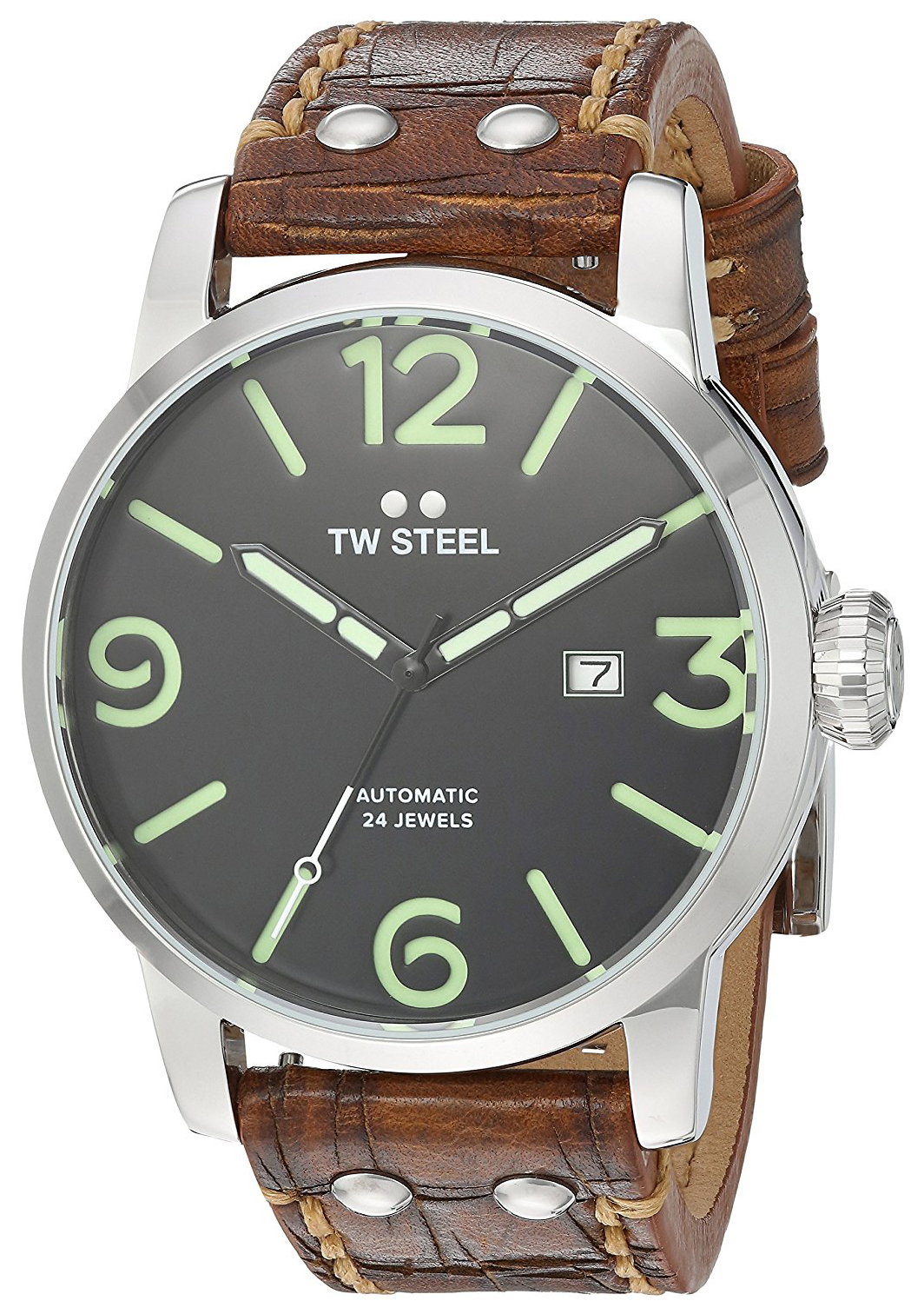 TW Steel Maverick Herrklocka MS16 Svart/Läder Ø48 mm - TW Steel
