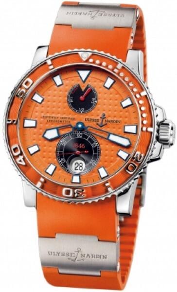 Ulysse Nardin Marine Collection Diver Herrklocka 263-33-3-97 Orange/Gummi - Ulysse Nardin