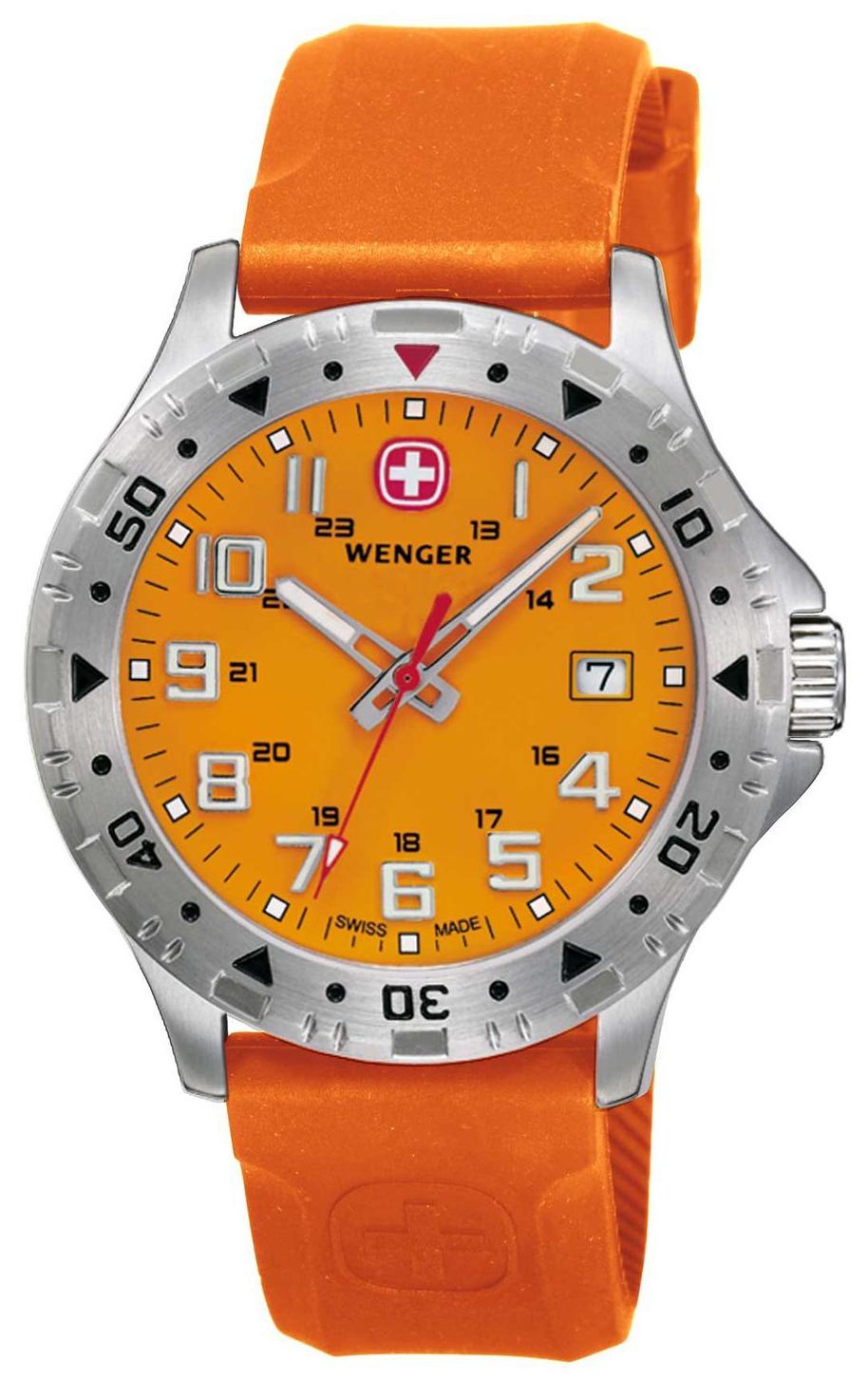 Wenger 99999 Herrklocka 79303W Orange/Gummi Ø40 mm - Wenger