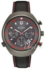 Bulova Accutron Svart/Läder Ø45 mm