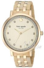 Kate Spade Champagnefärgad/Gulguldtonat stål Ø38 mm