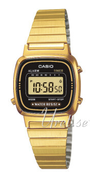 Casio Casio Collection Gulguldtonat stål 30.3x24.6 mm