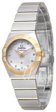 Omega Constellation Quartz 24mm Vit/18 karat gult guld Ø24 mm