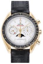 Omega Speedmaster Moonwatch Silverfärgad/Läder Ø44.25 mm