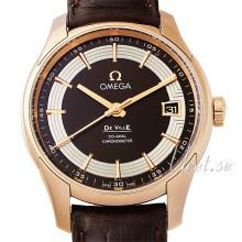Omega De Ville Hour Vision Co-Axial 41mm Brun/Läder Ø41 mm