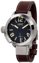 U-Boat Classico Svart/Läder Ø50 mm